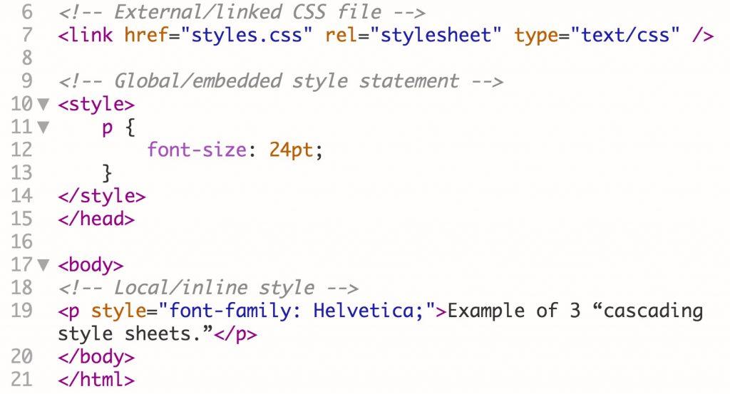 css web development language