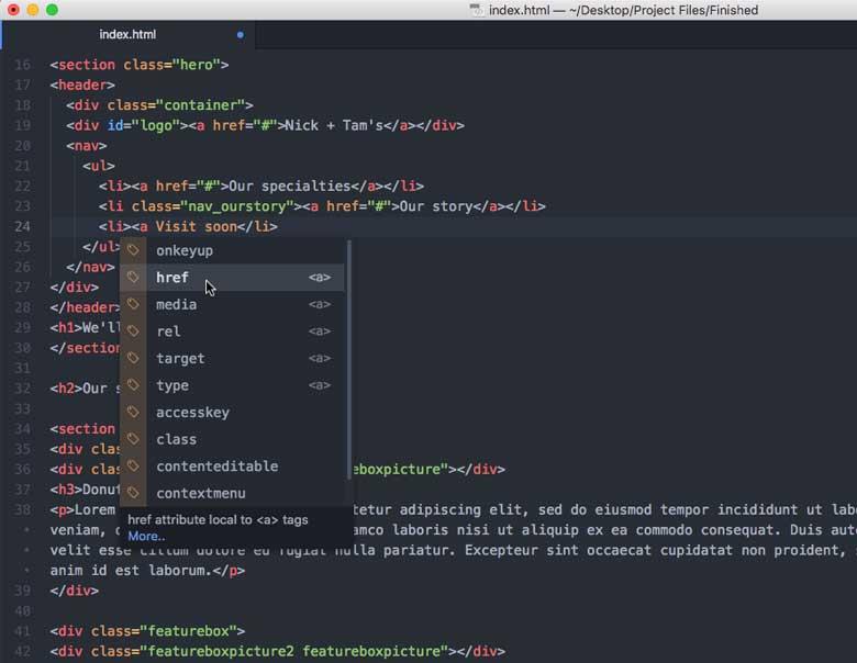 html web development language