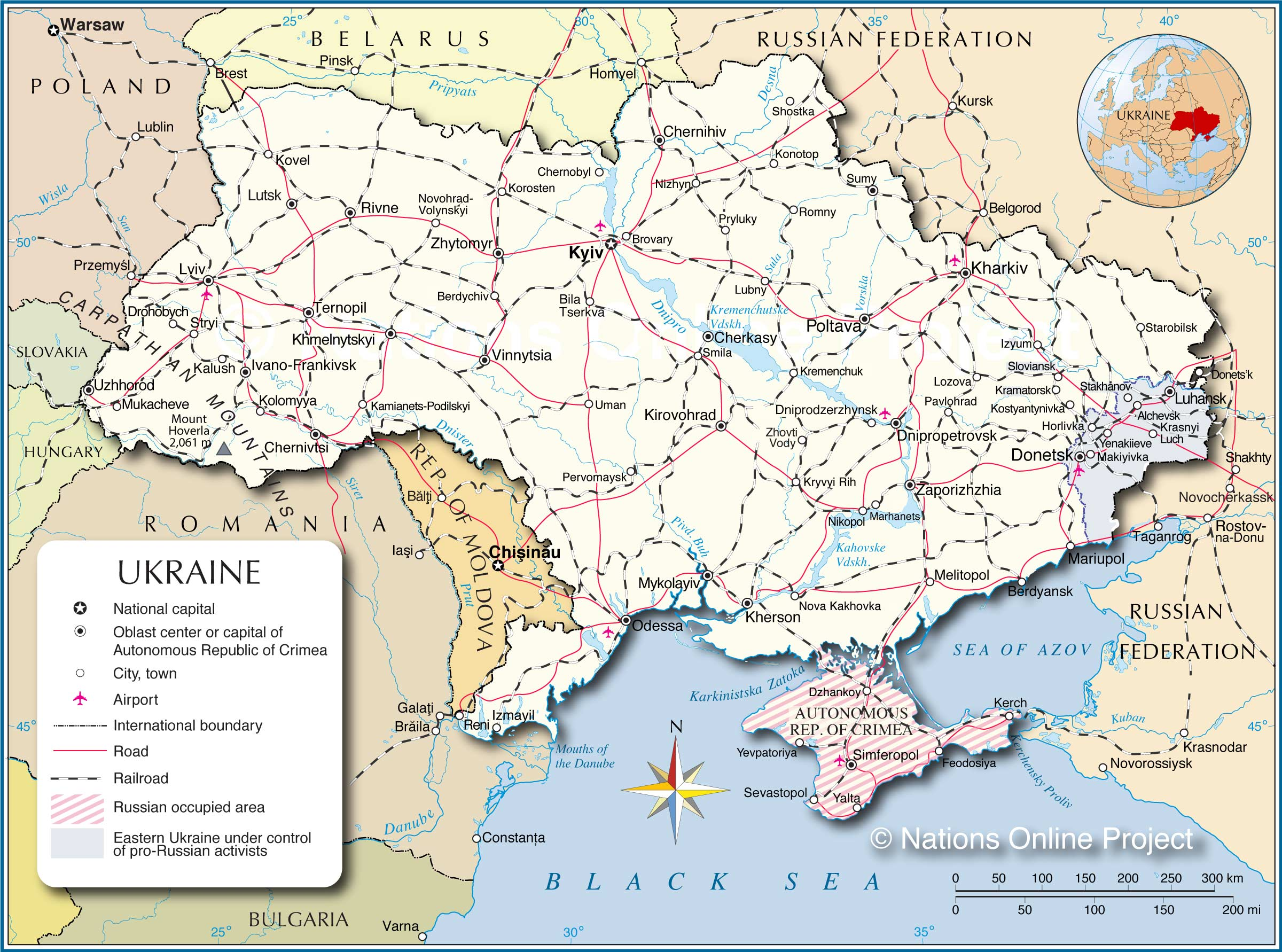 Ukraine Political Map 2017