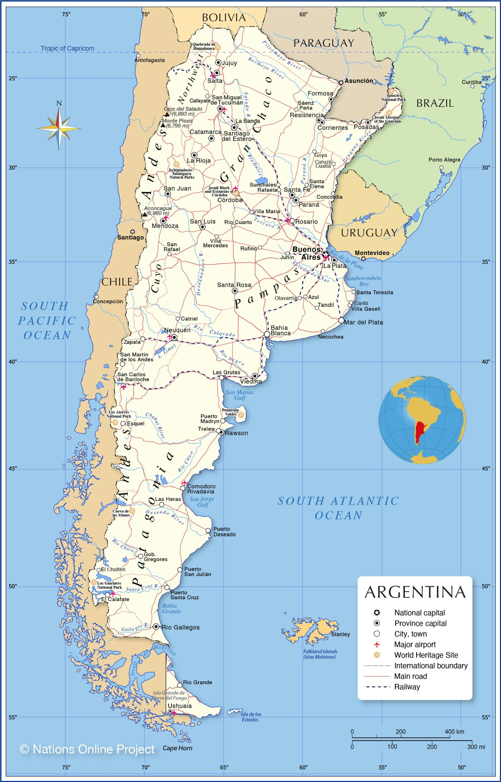 Argentina political map key facts