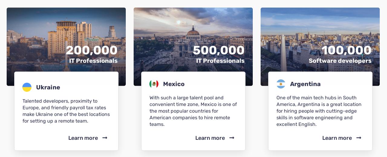 Bridge Team recruiting services in Ukraine Argentina and Mexico
