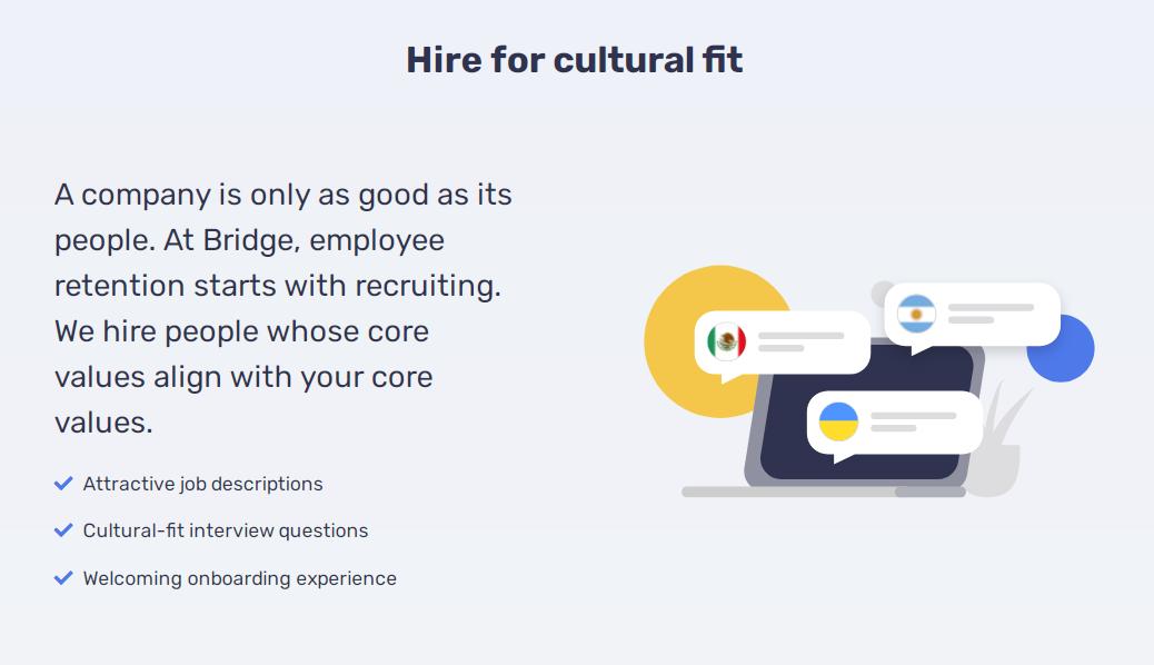 Bridge Teams app recruiting cultural fit software engineers